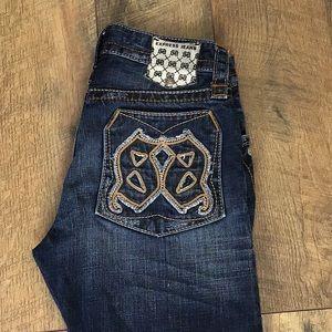 Express jeans Rocco slim boot 30w/30L